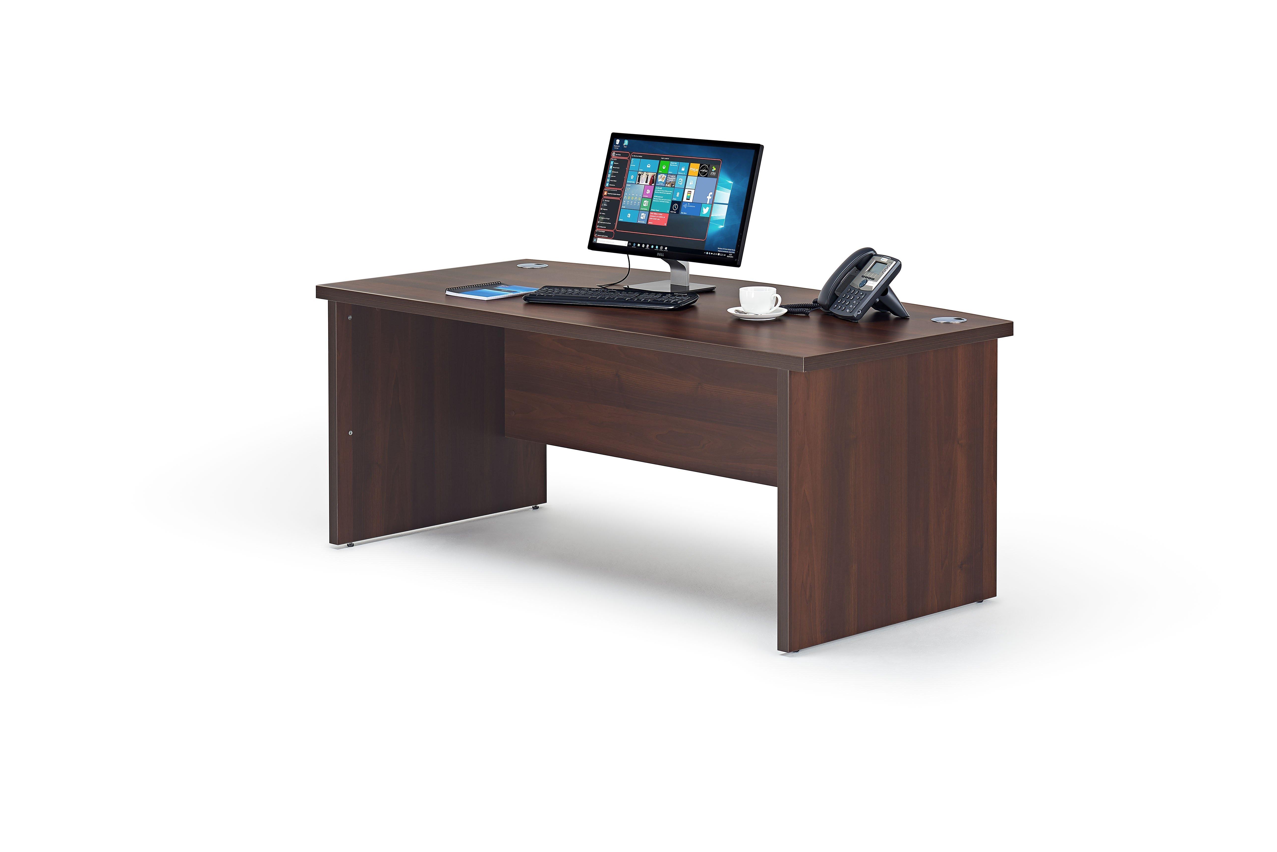 Premium Executive Walnut Finish Office Desk