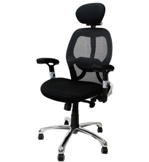 24 Hour Mesh Back Executive Office Chair With Adjustable Lumbar And Headrest