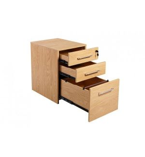 Managers Executive Office Pedestal Crown Oak