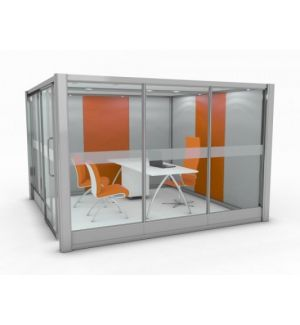 Partially Glazed Square Quiet Space Acoustic Pod