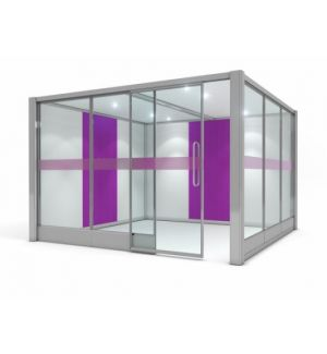 Partially Glazed Square Quiet Space Acoustic Pod 2