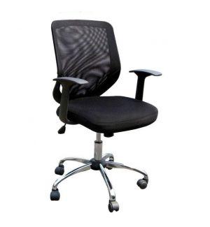 Ex-Display Black Mesh Back Operators Chairs with Chrome Base