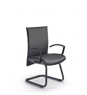 Modern Black Cantilever Chair