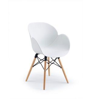 Stylish White Tub Chair
