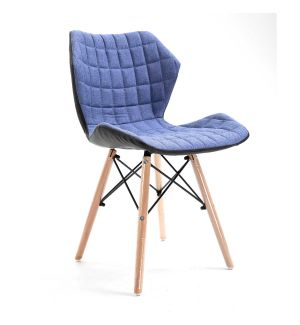 Quilted Fabric Side Chair - Demin Blue