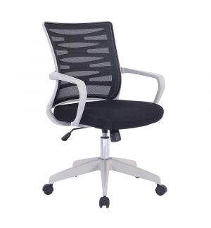 Spyro Designer Mesh Armchair With White Frame And Detailed Back Panelling