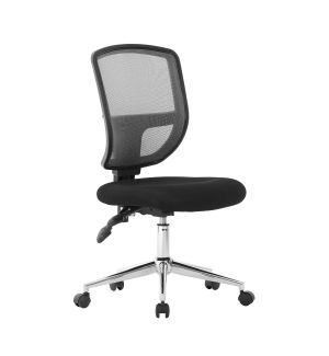Medium Back Mesh Swivel Chair - Black