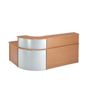 Curved Beech Reception Desk with Curved Counter Top