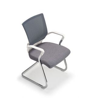 Clearance Grey and White Cantilever Chair