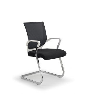 Black And White Mesh Cantilever Chair