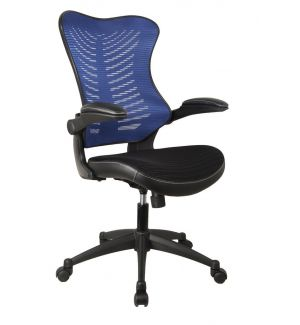 Mesh Backed Office Chair - Blue