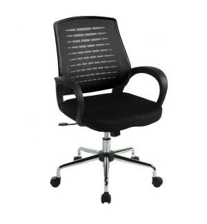 Mesh Back Operators Swivel Chair - Black