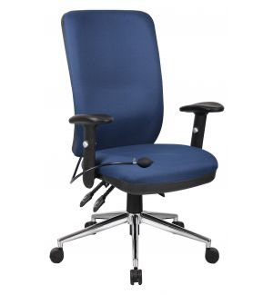 24 Hour Task Chair High Back (Chiropractor Approved) - Blue