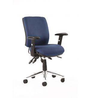 24 Hour Task Chair Mid Back (Chiropractor Approved) - Blue