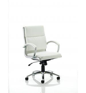 Charles Eames Style Classic White Soft Pad Medium Back