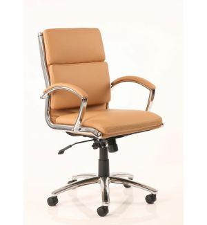 Charles Eames Style Classic Tan Soft Pad Medium Back
