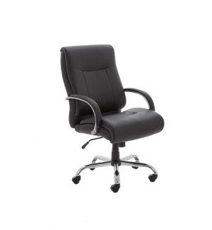 24 Hour Heavy Duty Leather Swivel Chair