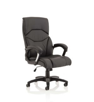 High Back Executive Office Chair Soft Faux Leather