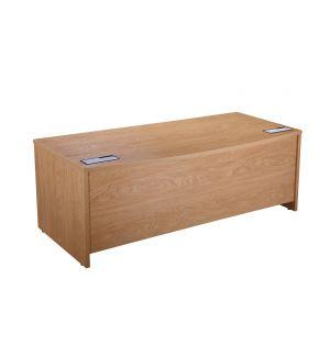 Bow Fronted Desk Crown Oak