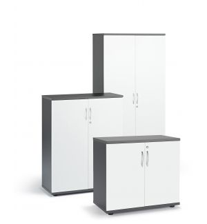 Graphite and White Cupboards (Items Are Sold Separately)