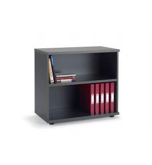 Second Hand Graphite Grey Office Bookcase