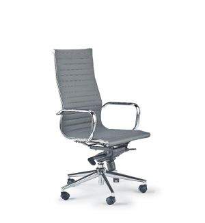 Clearance Grey Charles Eames Inspired Ribbed Swivel Chair