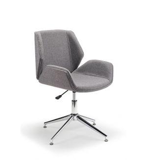 Designer Tub Chair In Grey Fabric