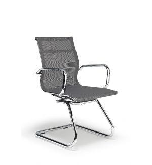 Charles Eames Inspired Grey Mesh Boardroom Chair