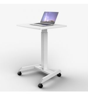 Height Adjustable White Laptop Table/ Lectern/ Reception Desk