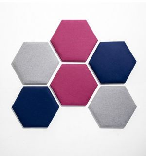 Hexagonal Acoustic Dampening Wall Panels