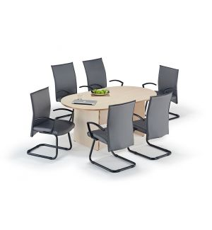 Maple Executive Boardroom Table Grey Modern Cantilever Chairs Bundle