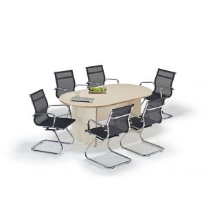 Maple Executive Boardroom Table and Mesh Cantilever Bundle