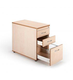 Second Hand Maple Desk High Pedestals