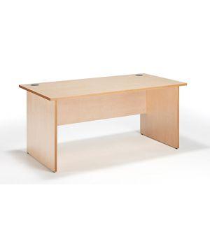 Maple Straight Panel Ended Office Desk