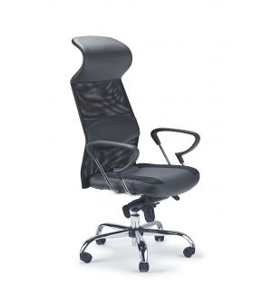 Mesh/Leather Swivel Chair (Good Lumbar Support)