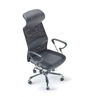 Clearance Mesh/Leather Swivel Chair (Good Lumbar Support)
