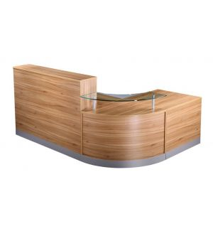 Reception Desk American Walnut