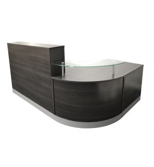 Reception Desk with Anthracite Finish