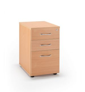 Beech Desk High Pedestal
