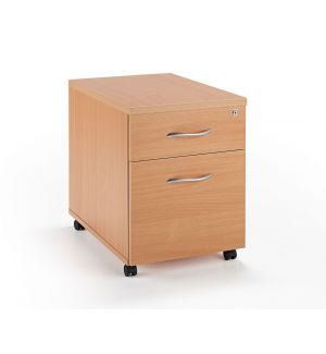 Beech Under Desk Mobile Pedestal