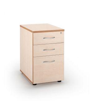 Maple Desk High Pedestal