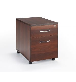 Walnut Under Desk Mobile Pedestal
