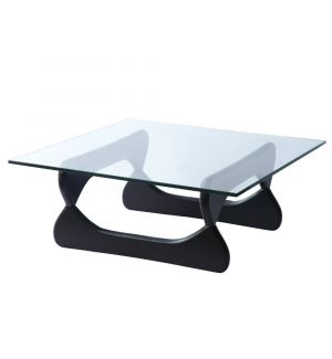 Retro Style Rectangular Glass Coffee Table