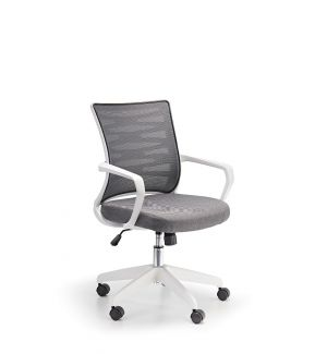 Spyro Designer Grey Mesh Armchair With White Frame And Detailed Back Panelling