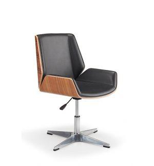 Designer Tub Chair With Walnut Shell