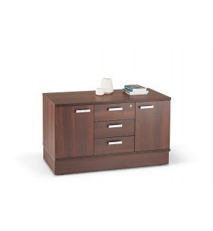 Walnut Finish Cupboard With Drawers