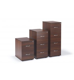 Walnut Executive Office Filing Cabinet (Items Are Sold Separately)