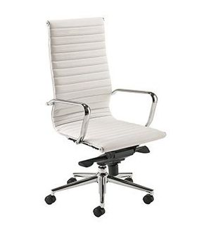 White Charles Eames Style Executive Swivel Chair