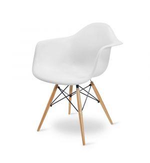 White Charles Eames Style DAW Tub Chair