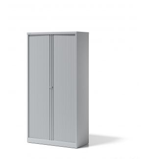 Bisley Essentials Tambour Cupboard 1000mm In Light Grey